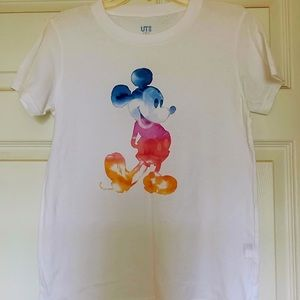 Uniqlo Micky Mouse White T-Shirt